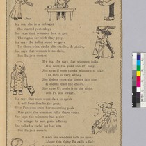 """The Suffragette,"" illustrated poem by William F. Kirk"