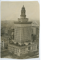 Aerial view of Oakland City Hall, 1926