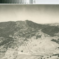 Aerial view of Mill Valley and Mount Tamalpais