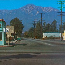 Color postcard of Foothill Blvd. & Archibald Ave
