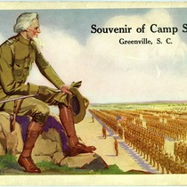 Cover of Souvenir of Camp Sevier, Greenville, S.C. booklet