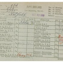 WPA bock face card for household census (block 2171) in Los Angeles ...