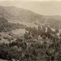 View of the Blithedale Hotel property, Mill Valley, circa 1889 [photograph]