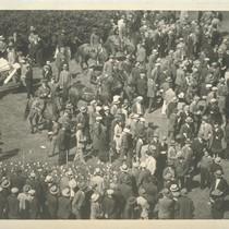 Part of throng that gathered for Mooney trial. San Francisco, California. Thomas ...