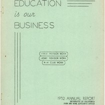 1952 Annual Report Education is our Business