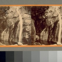 2d fall of the Yosemite. Low water. 700 ft. [Yosemite Valley, California.] ...