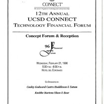 12th Annual UCSD CONNECT Technology Financial Forum: Concept Forum and Reception
