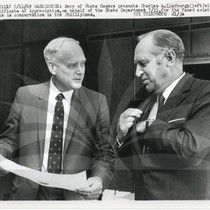 Charles A. Lindbergh with Secretary of State Rogers