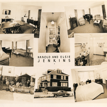 Collage of photographs of Harold and Maude Jenkins' property at 36th St., ...
