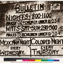 Movie house bulletin