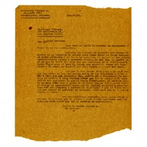 Letter from Francisco Venegas to Miguel Venegas, December 20, 1931