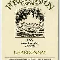 Foxen Canyon Vineyard, Chardonnay, 1979