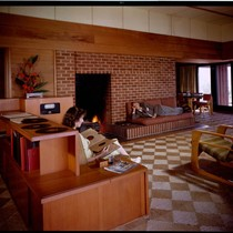 Birtcher, Cecil J., residence [Birtcher-Share House]. Living room