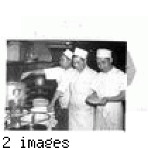 """Cooks at the Cherry Blossom Café in Los Angeles. Left to right: ..."