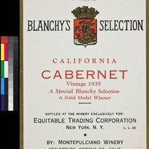 Blanchy's Selection California cabernet ; vintage 1935 ; a special Blanchy selection ...