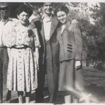 "1942: Howard ""Pete"" Brubeck, Elizabeth Brubeck, Dave and Iola Brubeck"