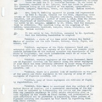 #20: Resolution on Employment of Japanese-Americans