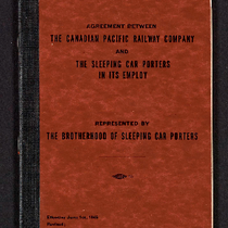 Agreement between the Canadian Pacific Railway Company and the sleeping car porters ...