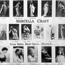 Photograph montage of Marcella Craft