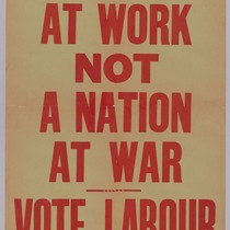 A nation at work, not a nation at war: Vote Labour