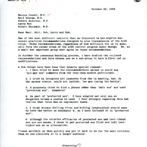 Donald P. Francis letter to Marcus Conant, Neil Schram, Robert Anderson, Larry ...