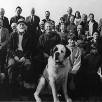 California Nobel Prize Laureates with family members and dogs
