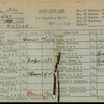 WPA block face card for household census (block 586) in Los Angeles ...