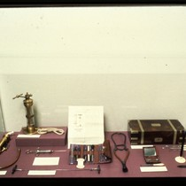 UCSF Origins of Excellence exhibit medical instrument artifacts