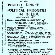 Benefit dinner for political prisoners in India