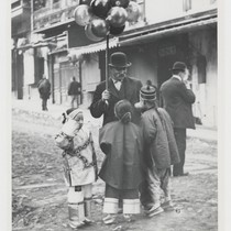 [Chinese children and balloon salesman]