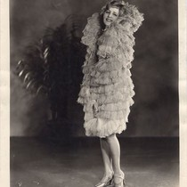 Blanche Le Clair Promotional Photo, with Cawston Ostrich Feather Cape