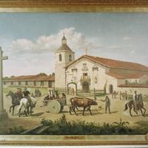 Santa Clara Mission in 1849