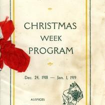 Base Hospital No. 30 Christmas Week Program