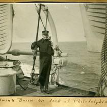 Edwin K. Bussie on deck of Philadelphia