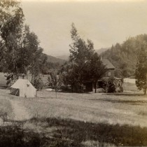 Grounds of the Blithedale Hotel, Mill Valley, circa 1889 [photograph]