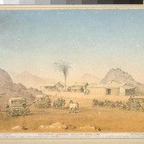 California Southern Overland Stage Line. California life and traffic; relais stables in ...