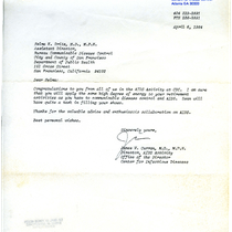 James W. Curran letter to Selma K. Dritz