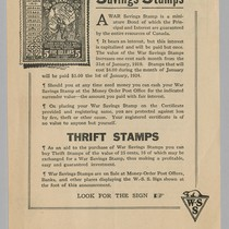 $5,00 for $4,00 War Savings Stamps: Thrift Stamps; on verso in French ...