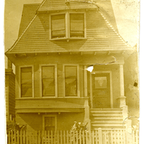 Exterior of Lydia Flood Jackson's house at 2319 Myrtle St., Oakland, California