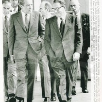 Henry Kissinger and President Nixon Walking