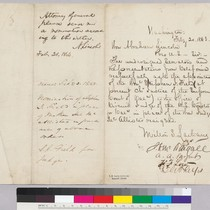 Milton Latham to Abraham Lincoln regarding endorsement of Stephen Feld