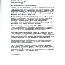 Donald P. Francis letter to Larry Bush with attached letter from Jeannine ...