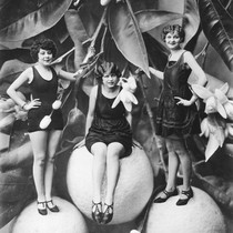 California Valencia Orange Show, Publicity Shot with Three Models. [graphic]