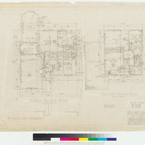 Conklin Residence, first and second floor plans, San Francisco, 1922