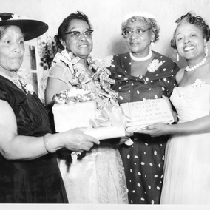 "Four women holding ""This is your life Stella A. Vick June 10, ..."