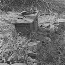 Abandoned cast iron stove, Berryessa Valley