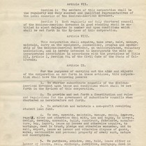 Articles of Incorporation for the Supreme Council of the Mexican-American Movement (page ...