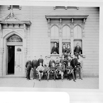 113 Fulton Street, College of Pharmacy building, with class of 1889