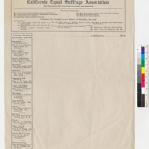 California Equal Suffrage Association letterhead (President, Mrs. Elizabeth Lowe Watson)