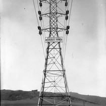 110 kv Transmisison Line Towers from San Francisquito Canyon Power Plant 1